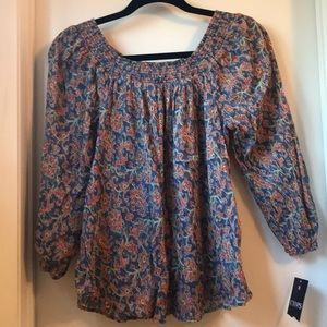 Chaps off the shoulder long sleeve